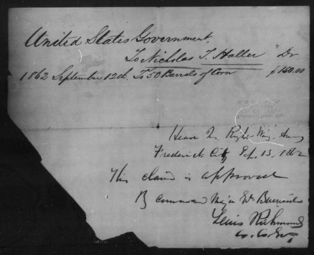 Haller, Nicholas T - State: [Blank] - Year: 1862