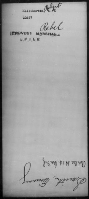 Halliburton, Robert - State: [Blank] - Year: [Blank]