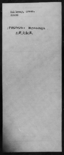 Halloway, Green - State: [Blank] - Year: [Blank]