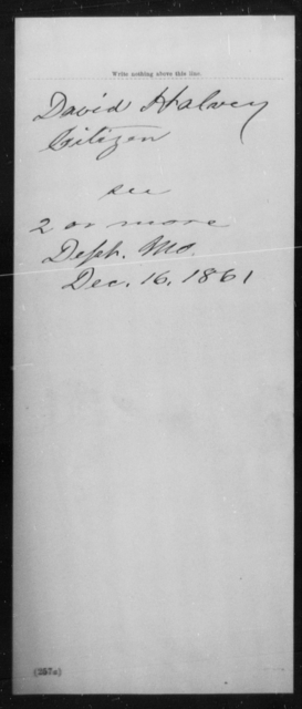 Halsey, David - State: Missouri - Year: 1861