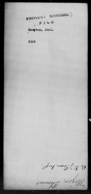 Hampton, Joel - State: [Blank] - Year: [Blank]