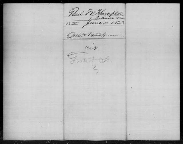 Hampton, Paul M - State: [Blank] - Year: 1863