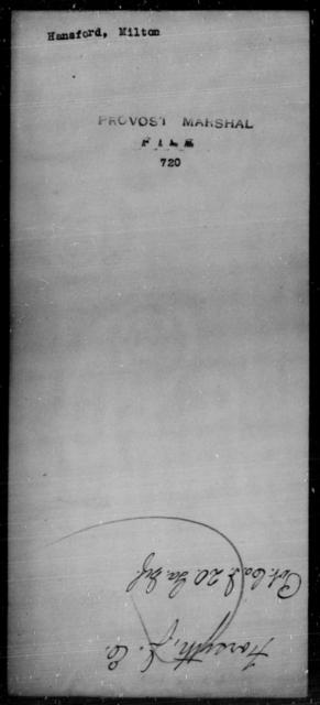 Hansford, Milton - State: [Blank] - Year: [Blank]