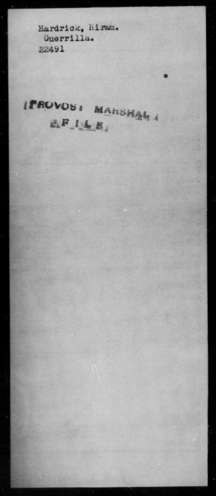 Hardrick, Hiram - State: [Blank] - Year: [Blank]