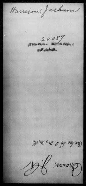 Harrison, Jackson - State: [Blank] - Year: [Blank]