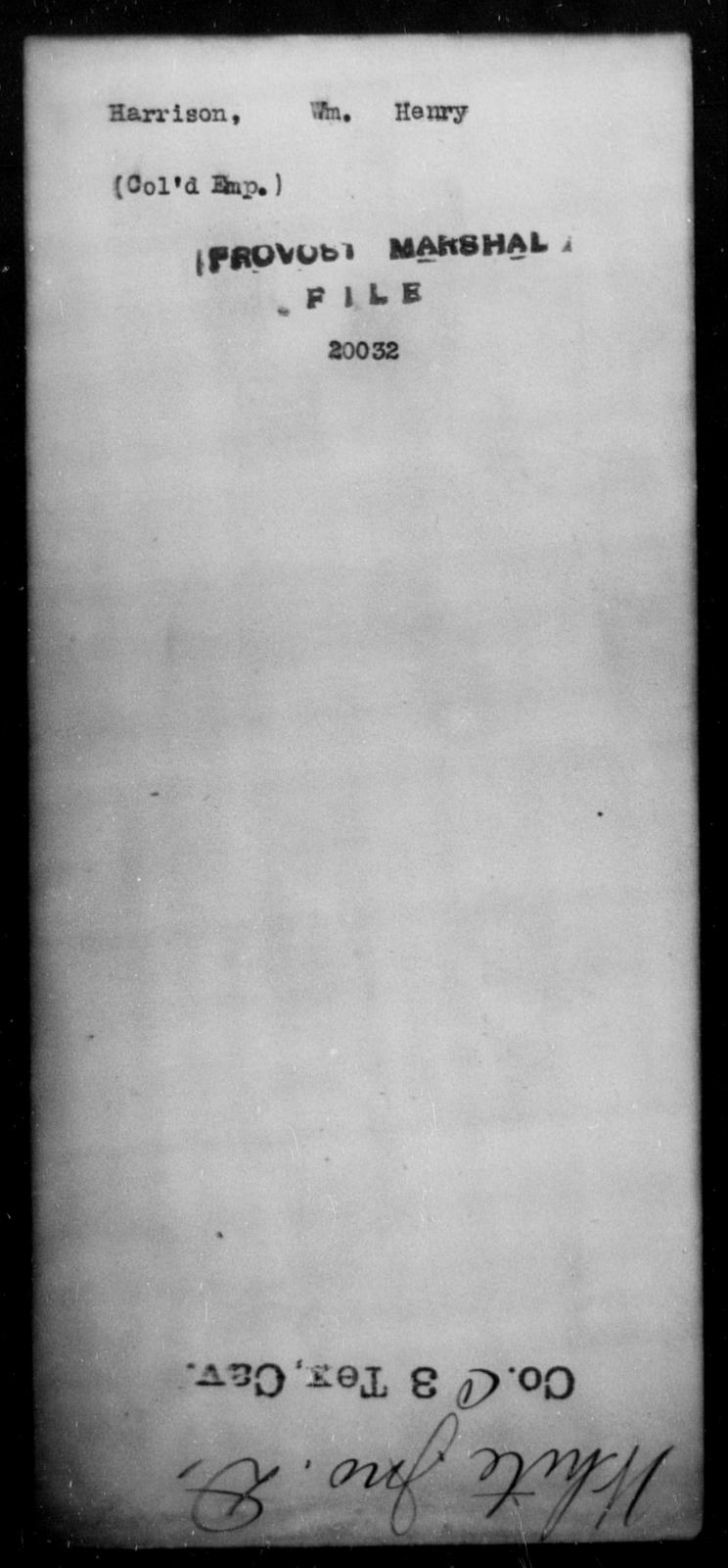 Harrison, Wm Henry - State: [Blank] - Year: [Blank]