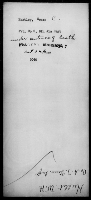Hartley, Henry C - State: Alabama - Year: [Blank]