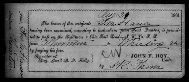 Hauser, J M - State: Ohio - Year: 1861