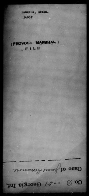 Hawkins, Green - State: [Blank] - Year: [Blank]