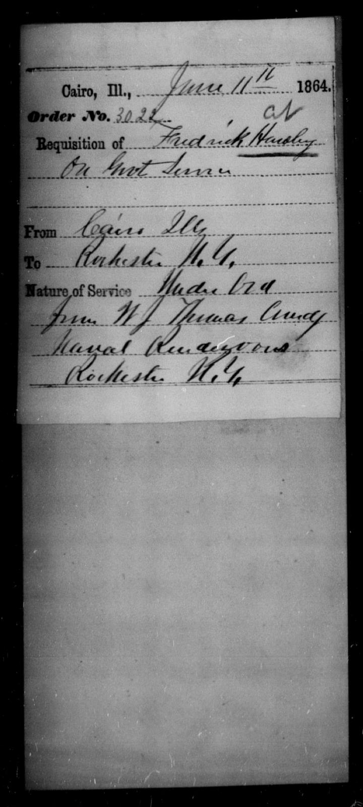 Hawley, Fredrick - State: Illinois - Year: 1864