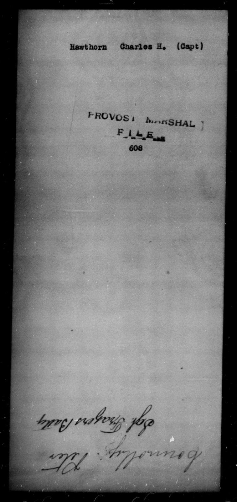 Hawthorn, Charles H - State: [Blank] - Year: [Blank]