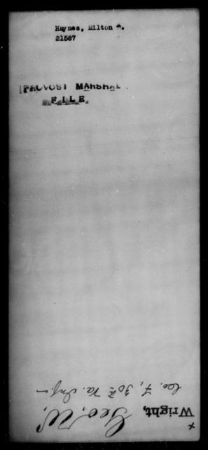 Haynes, Milton A - State: [Blank] - Year: [Blank]