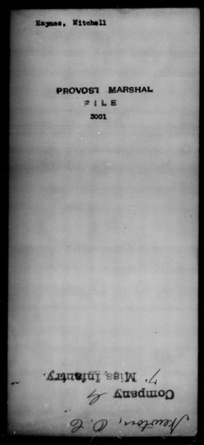 Haynes, Mitchell - State: [Blank] - Year: [Blank]