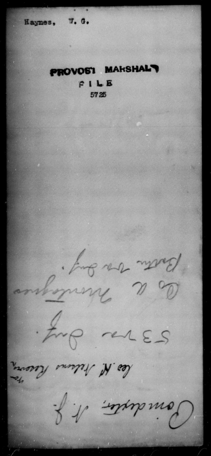 Haynes, W G - State: [Blank] - Year: [Blank]