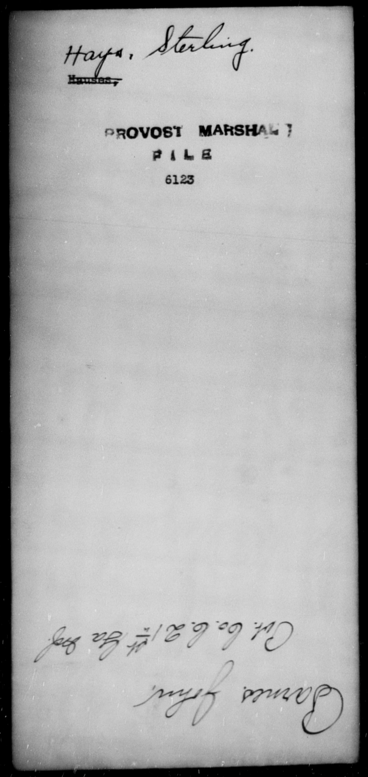 Hays, Sterling - State: [Blank] - Year: [Blank]