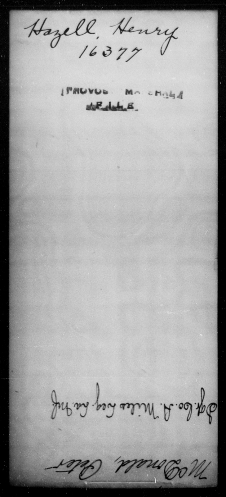 Hazell, Henry - State: [Blank] - Year: [Blank]