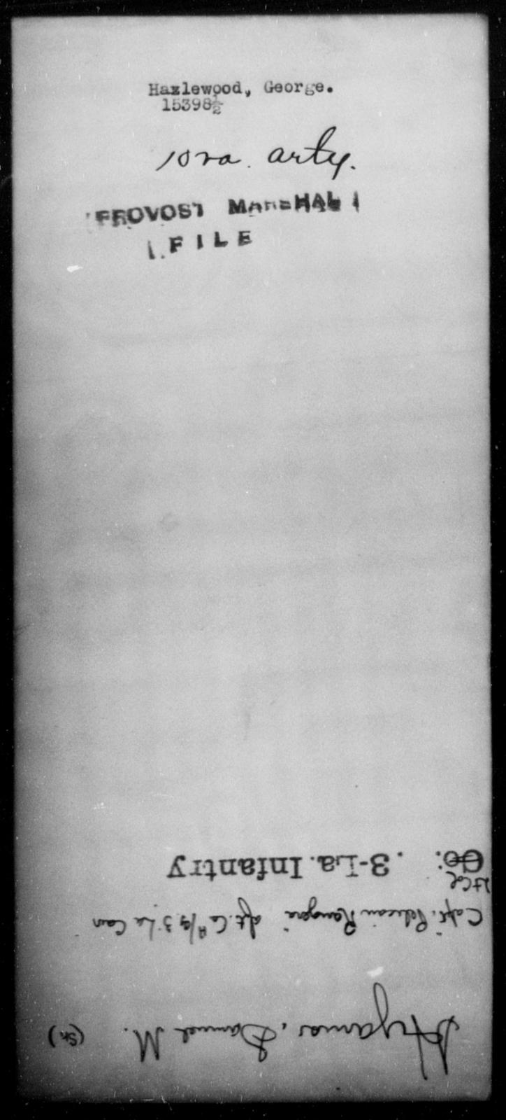 Hazlewood, George - State: [Blank] - Year: [Blank]