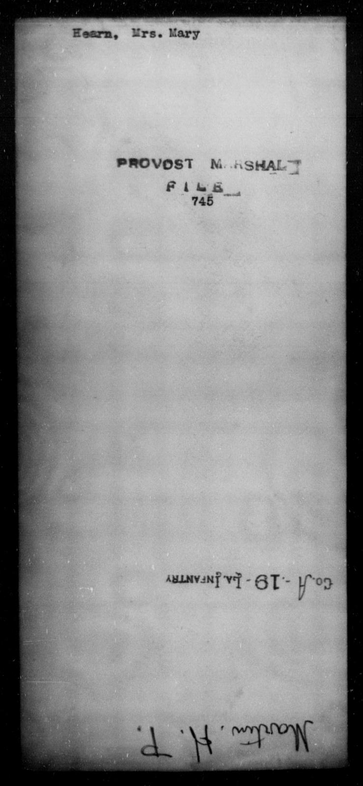Hearn, Mary - State: [Blank] - Year: [Blank]