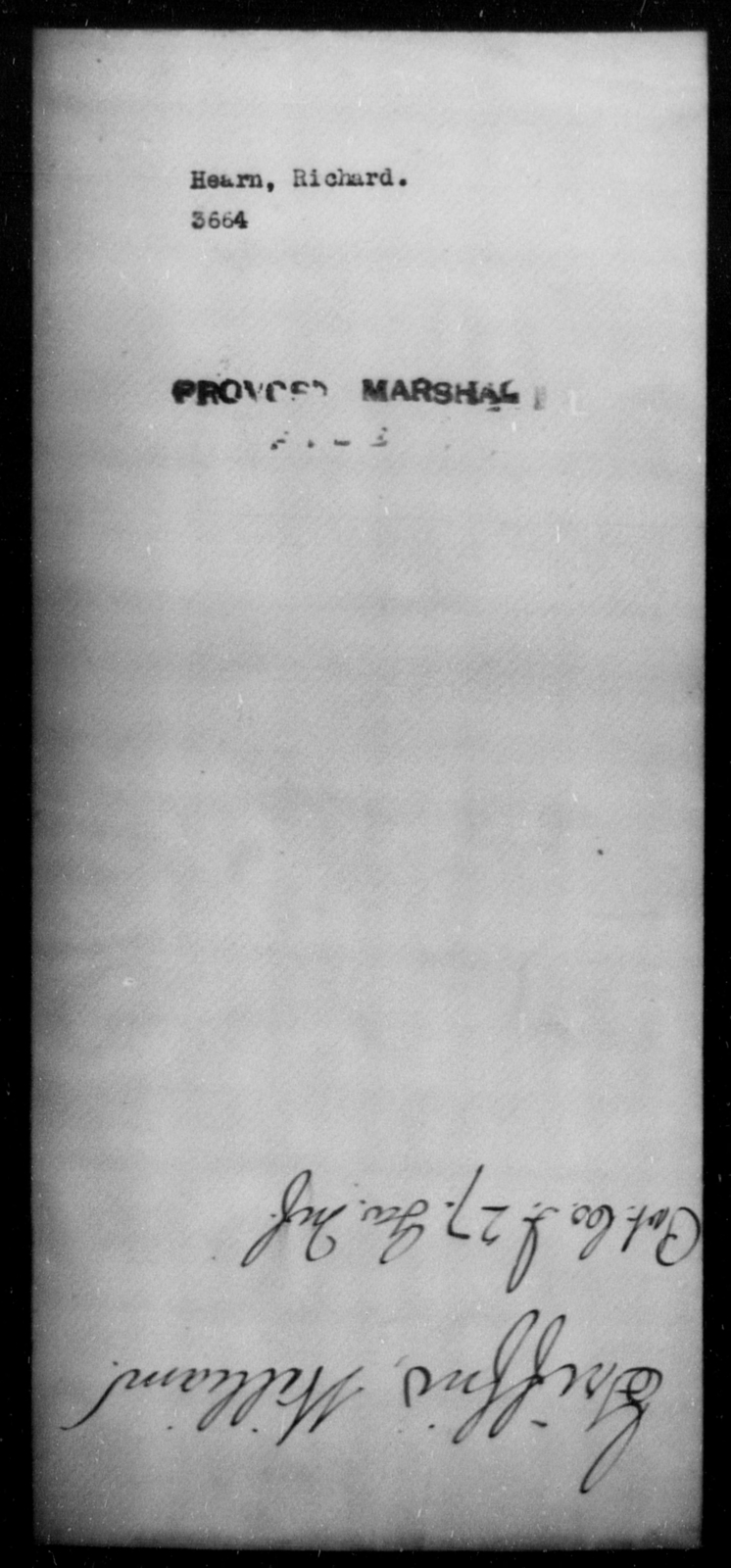 Hearn, Richard - State: [Blank] - Year: [Blank]