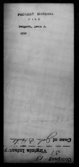 Hedgpeth, Lewis J - State: [Blank] - Year: [Blank]