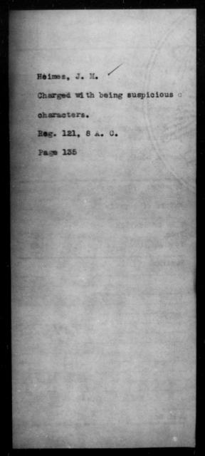 Heimes, J M - State: [Blank] - Year: [Blank]