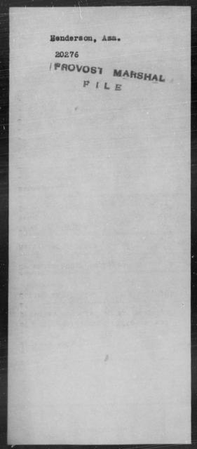 Henderson, Asa - State: [Blank] - Year: [Blank]