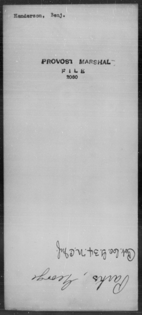 Henderson, Benj - State: [Blank] - Year: [Blank]