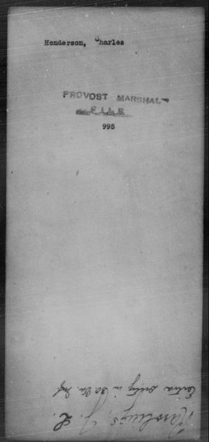 Henderson, Charles - State: [Blank] - Year: [Blank]