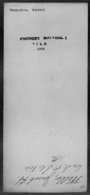Henderson, Gabriel - State: [Blank] - Year: [Blank]