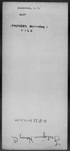 Henderson, J N - State: [Blank] - Year: [Blank]