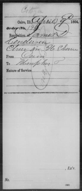 Henderson, James D - State: Illinois - Year: 1864