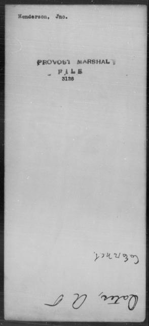 Henderson, Jno - State: [Blank] - Year: [Blank]