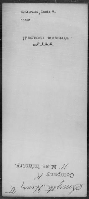 Henderson, Lewis C - State: [Blank] - Year: [Blank]