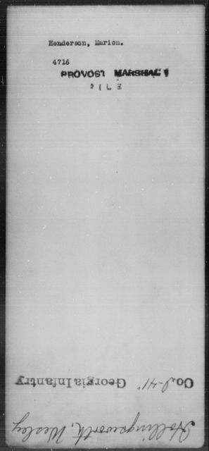 Henderson, Marion - State: [Blank] - Year: [Blank]