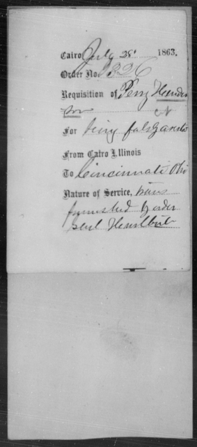 Henderson, Perry - State: Illinois - Year: 1863