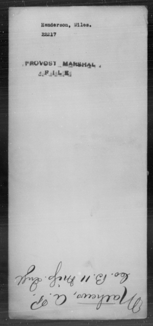 Henderson, Wiles - State: [Blank] - Year: [Blank]