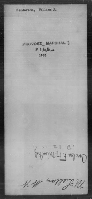Henderson, William J - State: [Blank] - Year: [Blank]