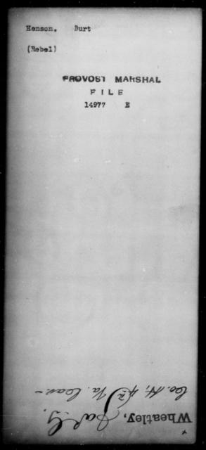 Henson, Burt - State: [Blank] - Year: [Blank]