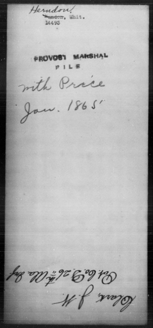Herndon, Whit - State: [Blank] - Year: 1865