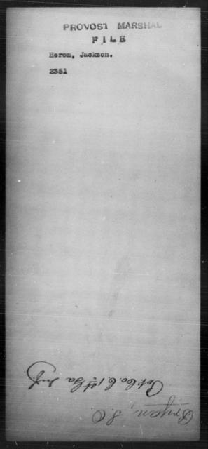 Heron, Jackson - State: [Blank] - Year: [Blank]