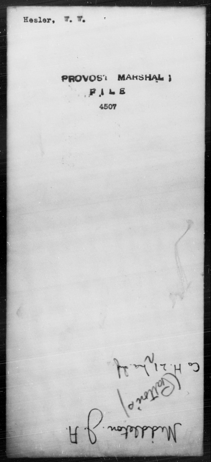 Hesler, W W - State: [Blank] - Year: [Blank]
