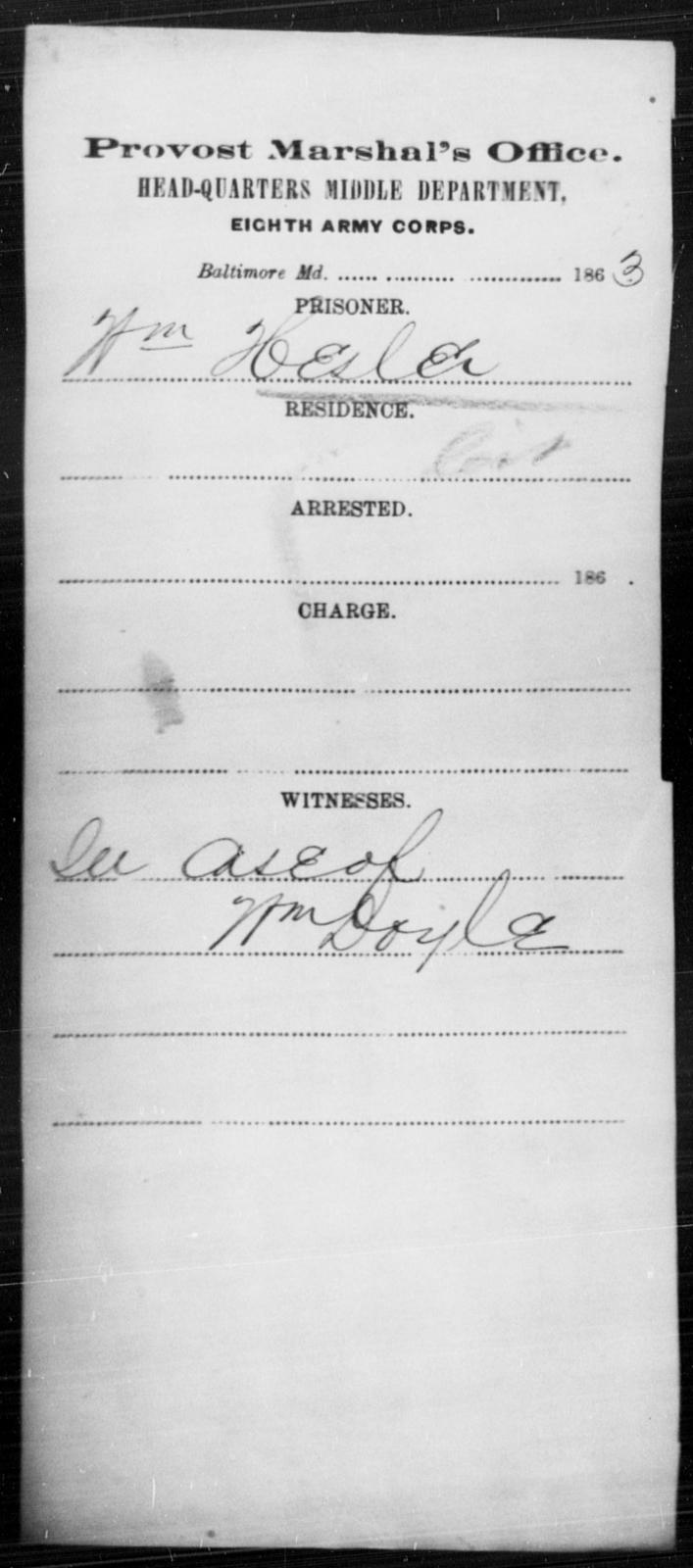 Hesler, Wm - State: Maryland - Year: 1863