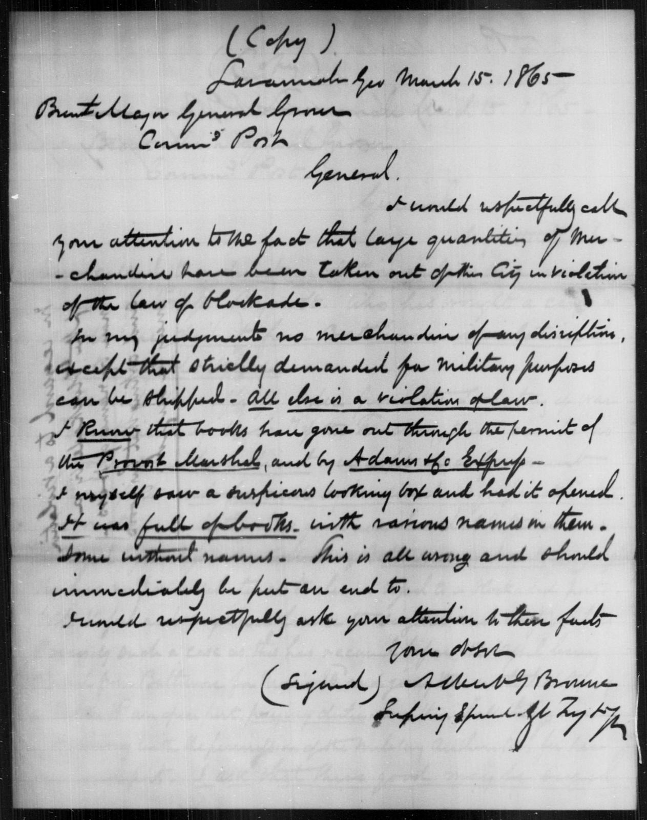 Hess, N - State: [Blank] - Year: 1865