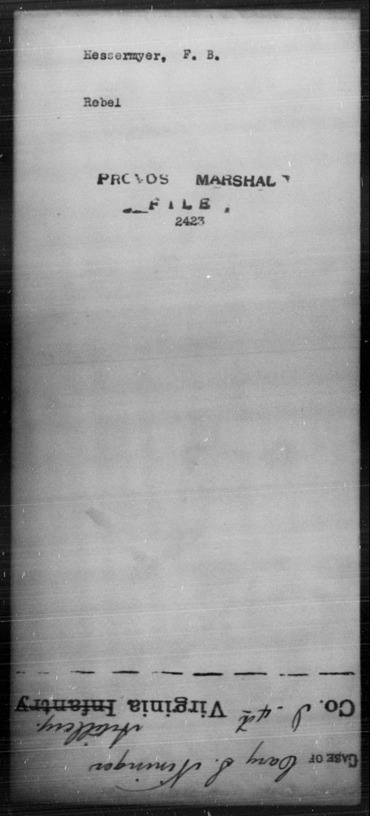 Hessermyer, F B - State: [Blank] - Year: [Blank]