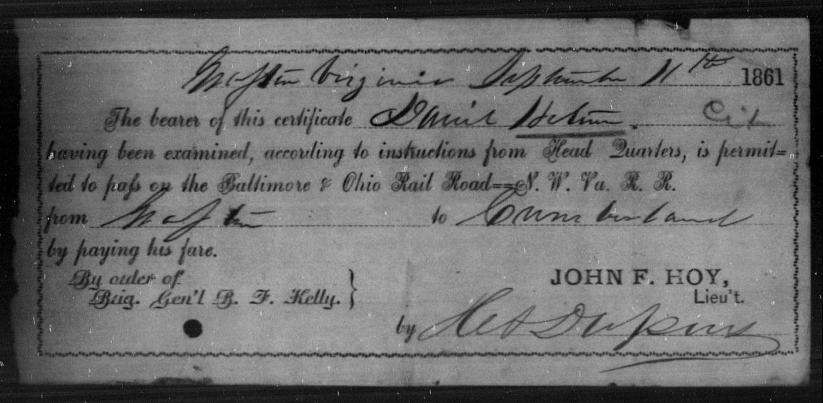 Hetun, Daniel - State: Virginia - Year: 1861