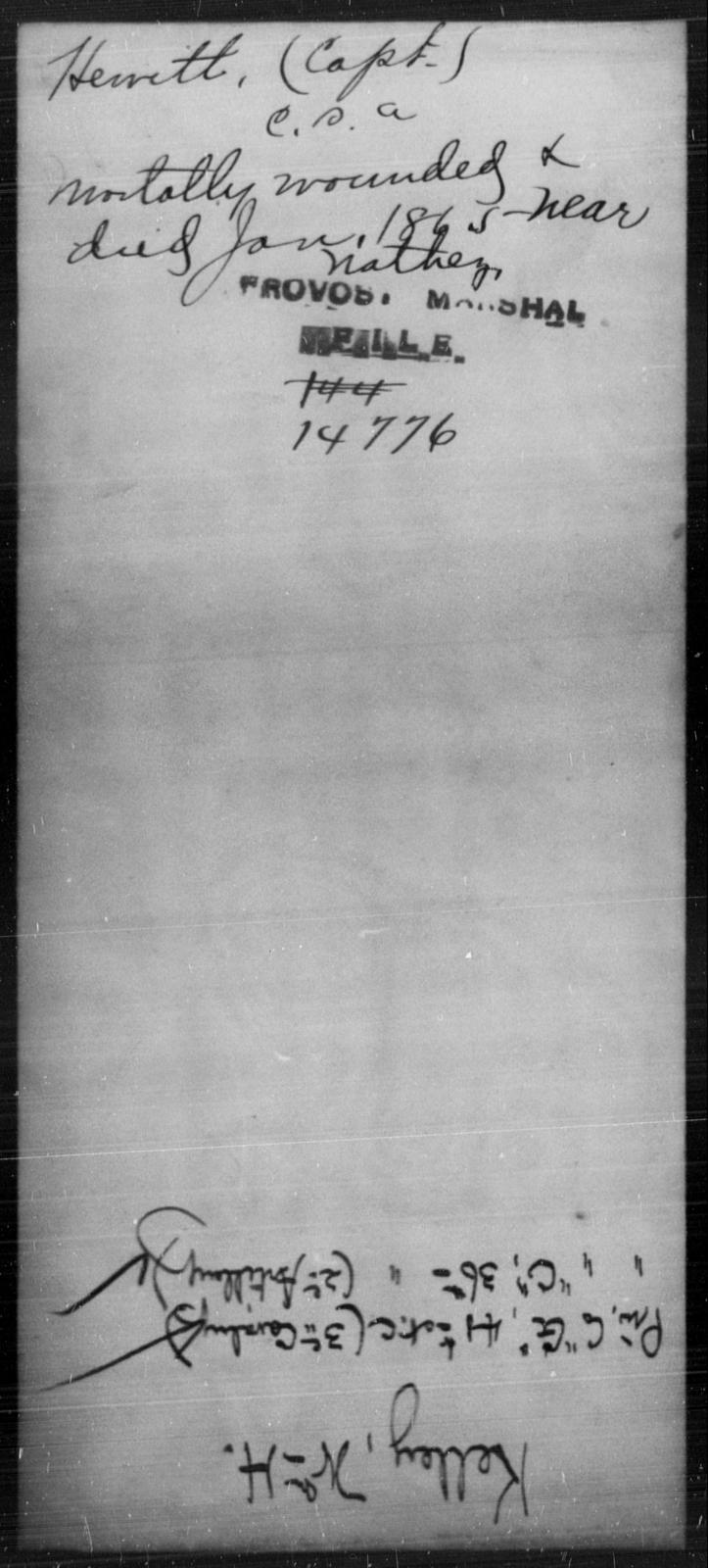 Hewey, [Blank] - State: [Blank] - Year: 1865