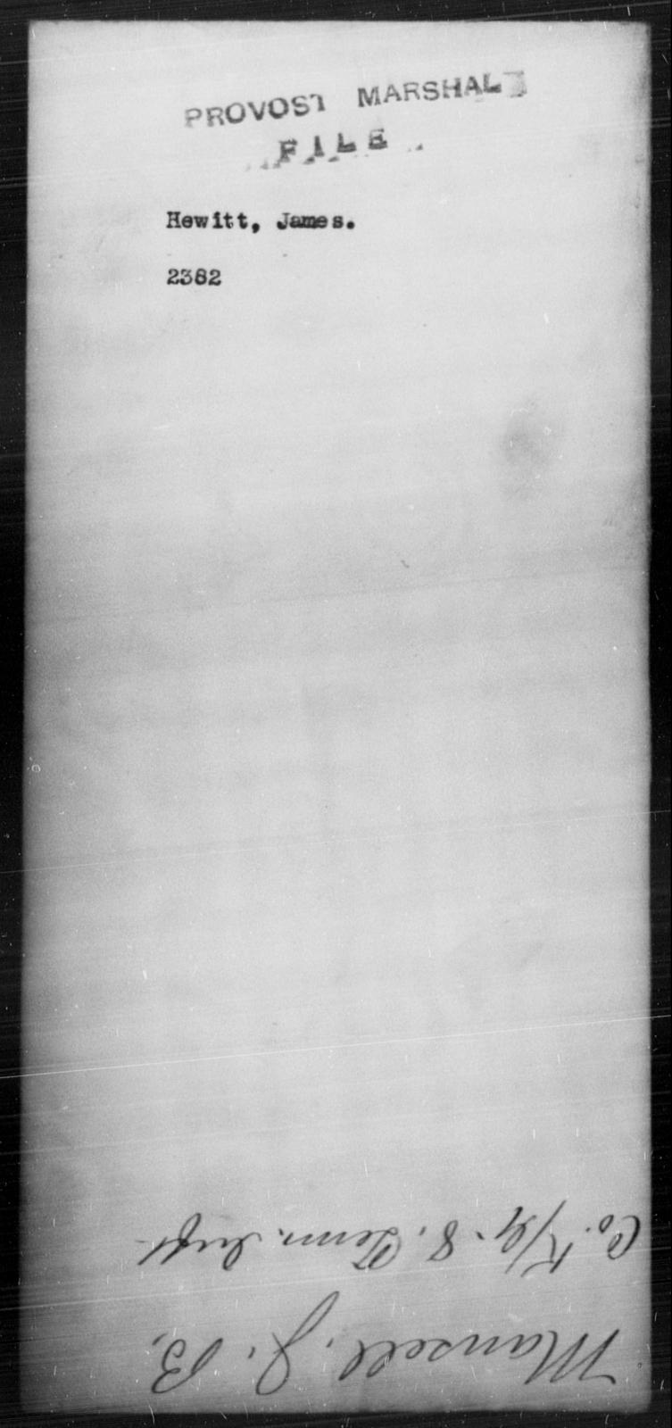 Hewitt, James - State: [Blank] - Year: [Blank]
