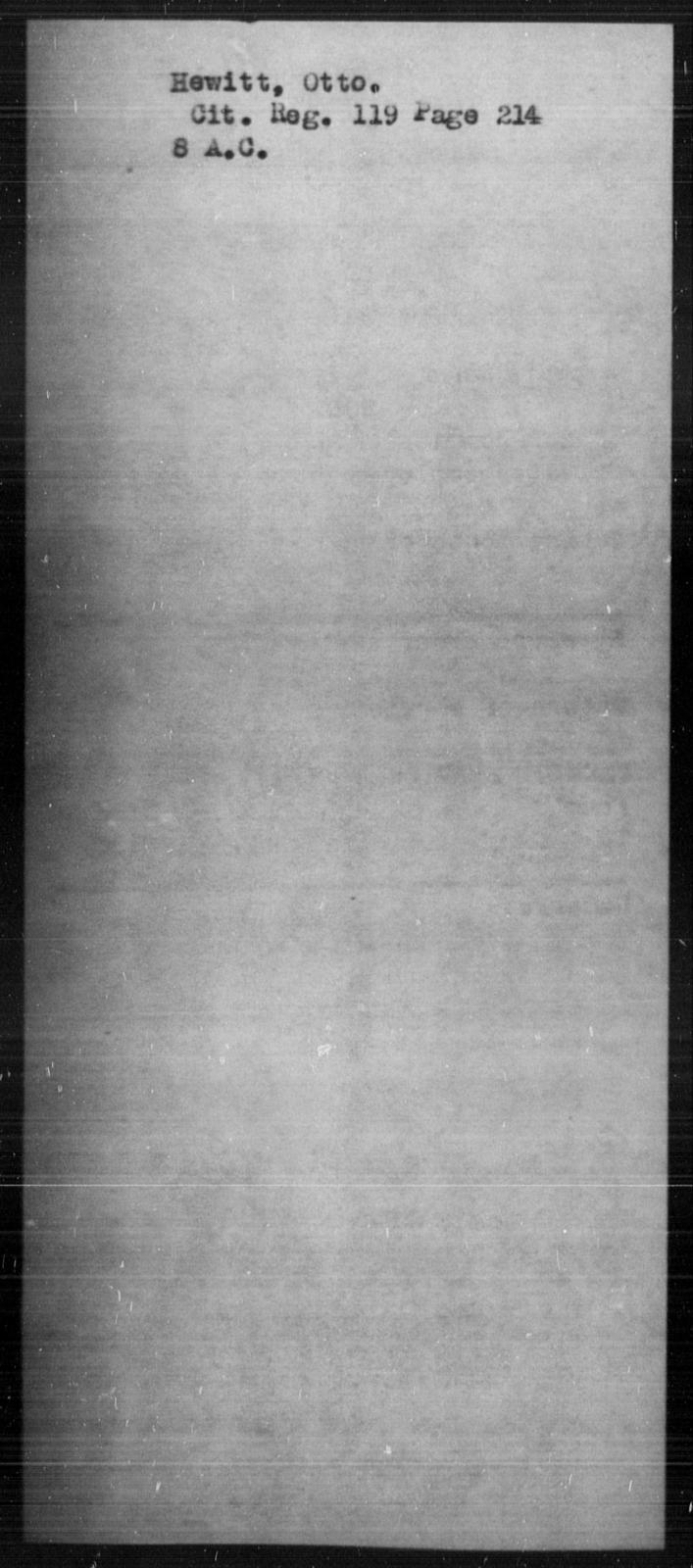 Hewitt, Otto - State: [Blank] - Year: [Blank]