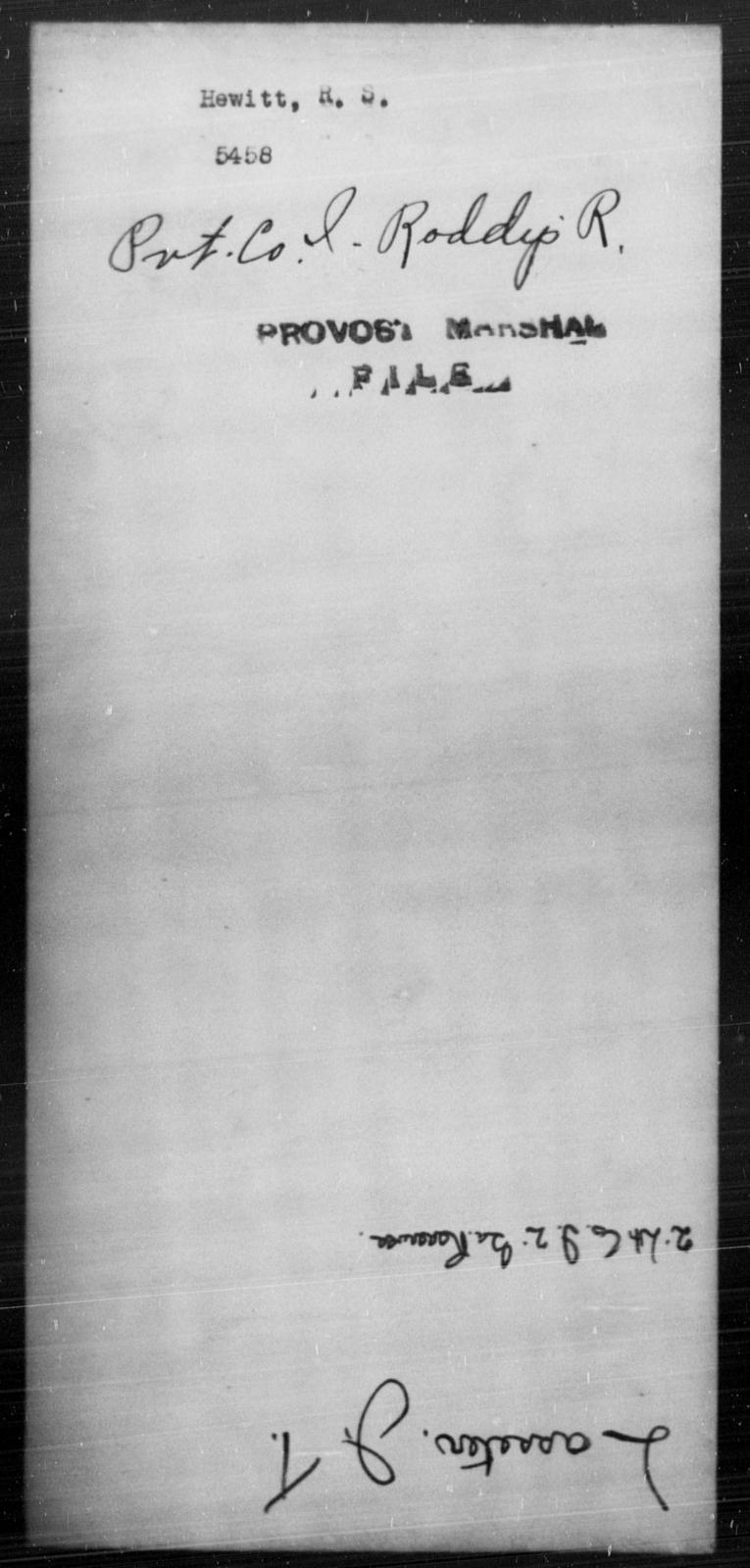 Hewitt, R S - State: [Blank] - Year: [Blank]
