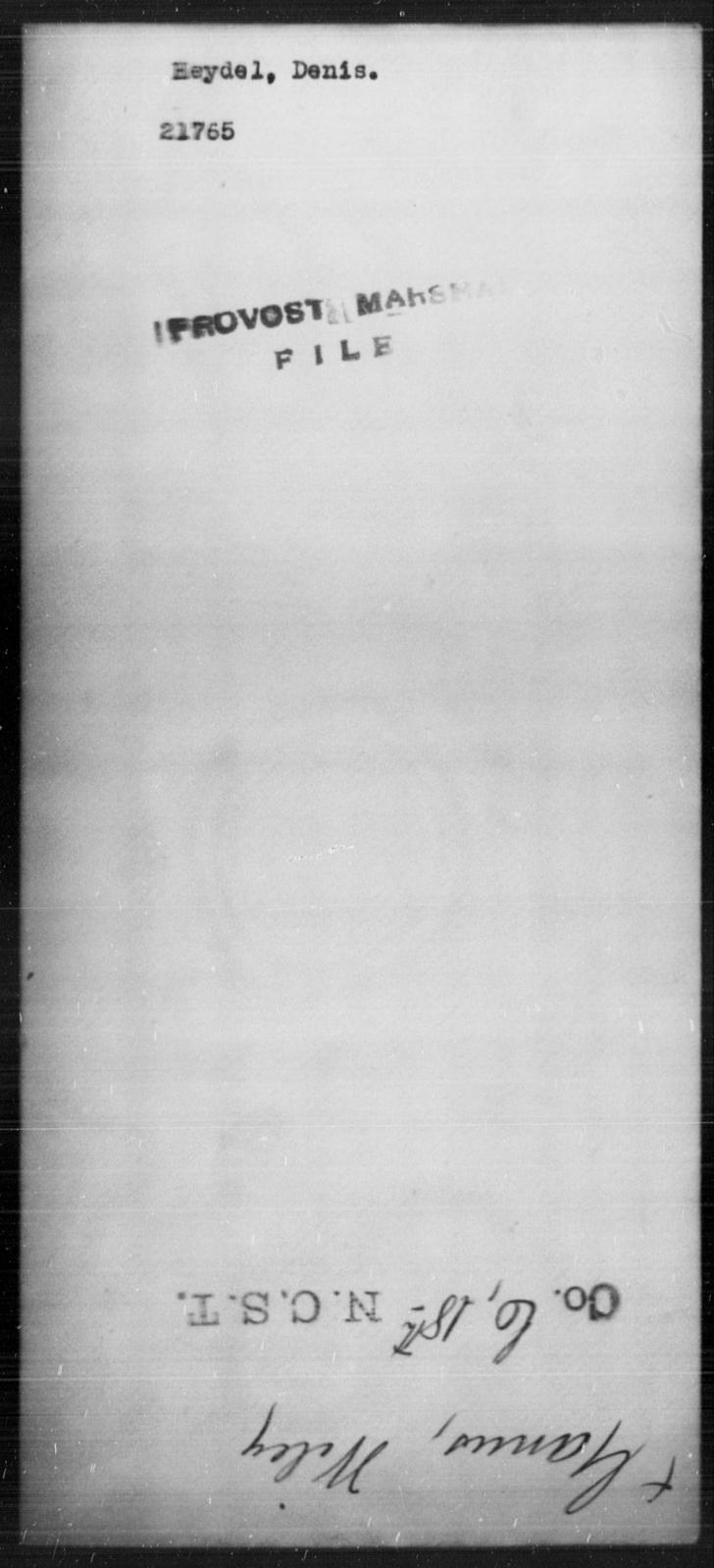 Heydel, Denis - State: [Blank] - Year: [Blank]